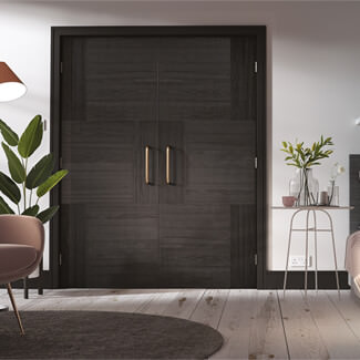LPD Seis Fresno Pre-Finished Charcoal Black 6P Internal Fire Door