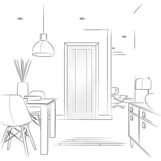 XL Joinery Worcester White Primed 3P Internal Door