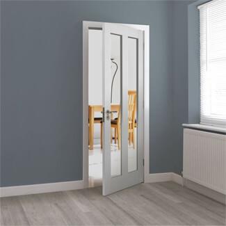 JB Kind Dominica White Primed 2L Internal Glazed Door