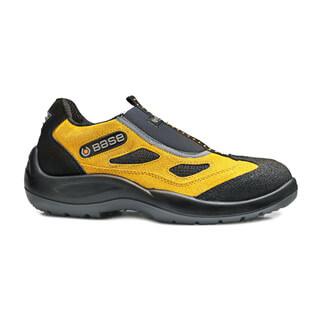 Portwest Base B0475 Black-Yellow Four Holes Low Shoe