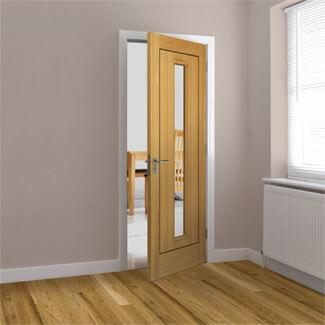 JB Kind Spencer Pre-Finished Oak 1P 1L Internal Glazed Door