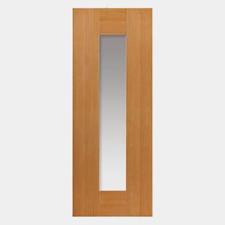 JB Kind Axis Pre-Finished Oak 1L Internal Glazed Door