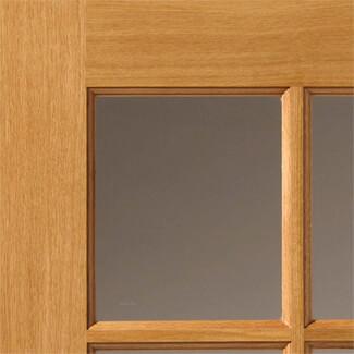 JB Kind Dean Pre-Finished Oak 2P 6L  Internal Glazed Door