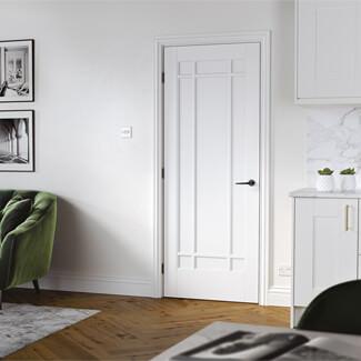 LPD Manhattan White Primed Plus 9P Internal Fire Door
