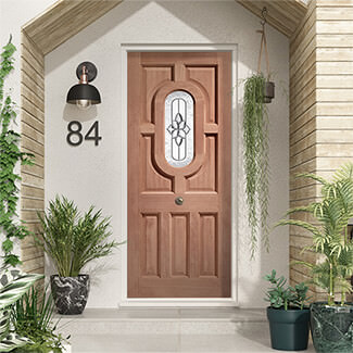 XL Joinery Acacia Un-Finished Hardwood 7P 1L External Glazed Door