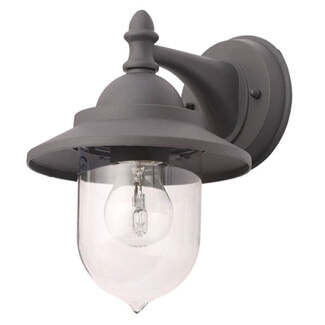 Zinc Leek Anthracite Grey Mini Fishermans Wall Lantern