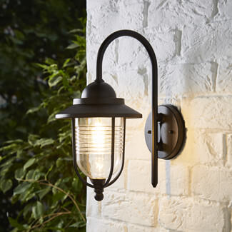 Zinc Eris Fishermans Black Wall Lantern