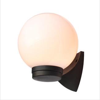 Coast Black York Opal Globe Wall Lantern
