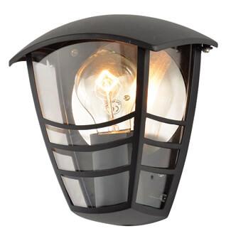 Zinc Perdita IP44 Half Wall Lantern