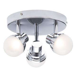 SPA Milan Chrome 3 Light LED Spotlight Ceiling Plate