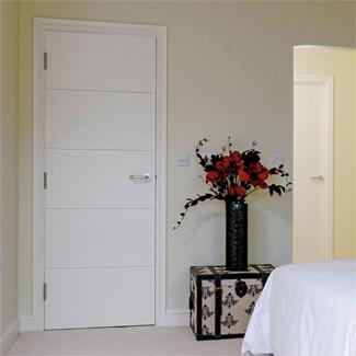 JB Kind Adelphi White Primed 5P Internal Fire Door