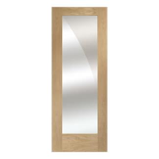 XL Joinery Pattern 10 Un-Finished Oak 1L Internal Mirror Glazed Door