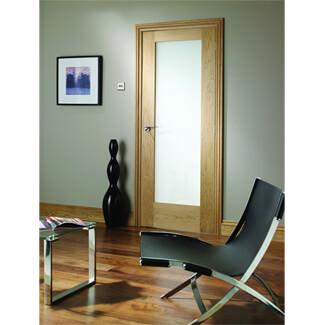 XL Joinery Pattern 10 Un-Finished Oak 1L Internal Obscure Glazed Door