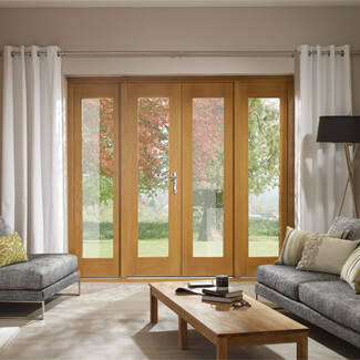 XL Joinery La Porte Pre-Finished Oak French Door Set With Brass Hardware