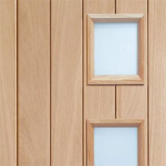 XL Joinery Suffolk Original Un-Finished Oak 1P 4L Internal Glazed Door