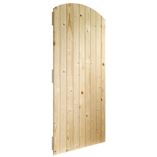 XL Joinery Un-Finished Solid Pine External Arch Top Gate