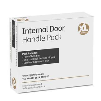 XL Joinery Oder Black Nickel Plated Bathroom Door Handle Pack
