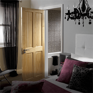 XL Joinery Victorian Un-Finished Clear Pine 4P Internal Door