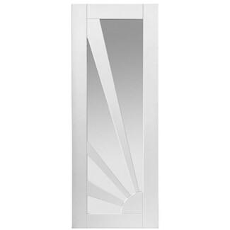 JB Kind Aurora White Primed 4L Internal Etched Glazed Door