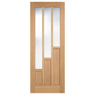 LPD Coventry Pre-Finished Oak 3P 3L Internal Glazed Door