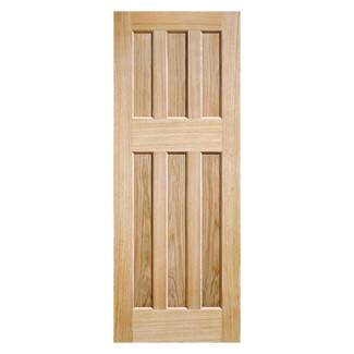 LPD DX 60s Style Un-Finished Oak 6P Internal Door