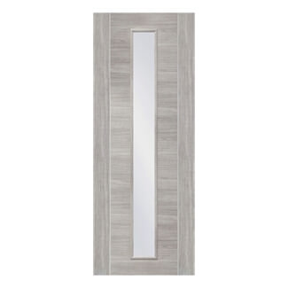 XL Joinery Palermo Pre-Finished White Grey Laminate Internal Clear Glazed Door
