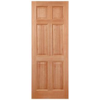 LPD Colonial Un-Finished Hardwood 6P External Dowelled Door