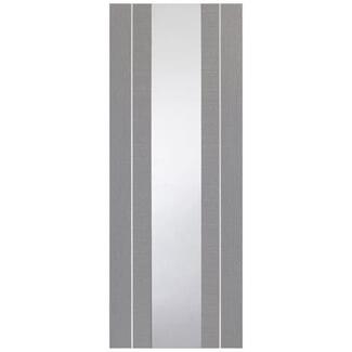 XL Joinery Forli Fully Finished Light Grey 1L Internal Glazed Door