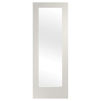 XL Joinery Pattern 10 Painted Glacier White 1L Internal Clear Glazed Door