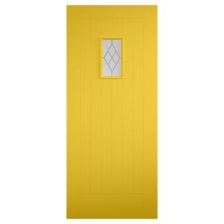 XL Joinery Tricoya Chancery Painted Zinc Yellow External Glazed Door