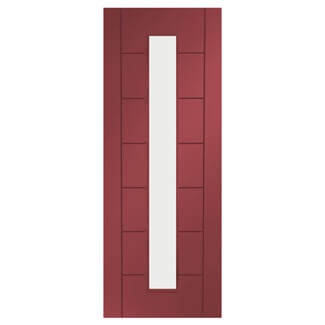XL Joinery Palermo Painted Ember 7P 1L Internal Glazed Door