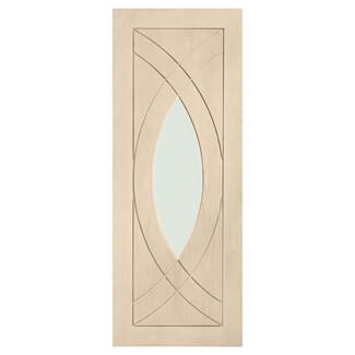 XL Joinery Treviso Blanco Oak 1P 1L Internal Glazed Door