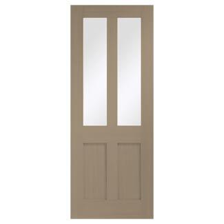 XL Joinery Malton Shaker Crema Oak 2P 2L Internal Glazed Door