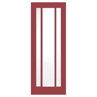 XL Joinery Worcester Painted Ember 3L Internal Glazed Fire Door