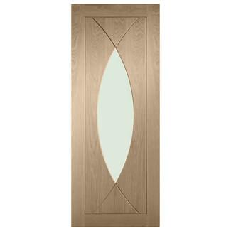 XL Joinery Pesaro Latte Oak 4P 1L Internal Glazed Door