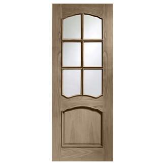 XL Joinery Riviera Cappuccino Oak 1P 6L Internal Glazed Door