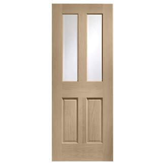 XL Joinery Malton Latte Oak Internal Glazed Fire Door