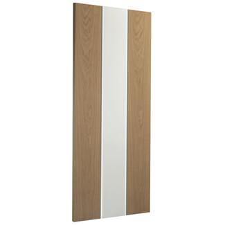 XL Joinery Asti Pre-Finished White-Oak 1L Internal Glazed Door