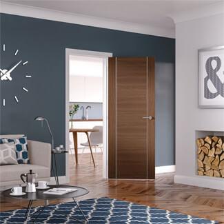 XL Joinery Forli Pre-Finished Walnut 1P Internal Fire Door