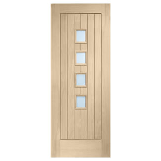 XL Joinery Suffolk Original Latte Oak 1P 4L Internal Glazed Door