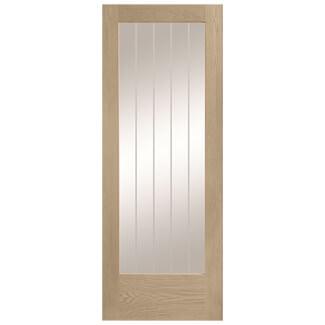 XL Joinery Suffolk Latte Oak 1L Internal Glazed Door