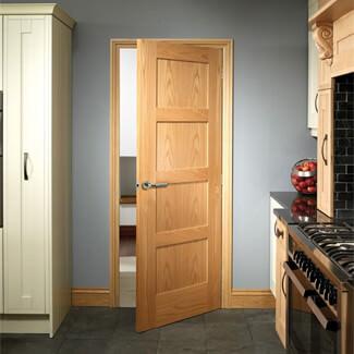 XL Joinery Shaker Cappuccino Oak 4P Internal Door