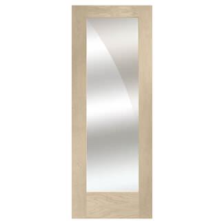 XL Joinery Pattern 10 Blanco Oak 1L Internal Mirror Glazed Door