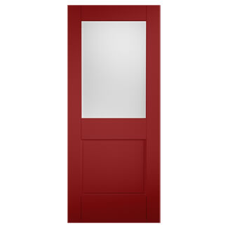 XL Joinery Tricoya 2XG Painted Signal Red 1P 1L External Glazed Door