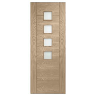 XL Joinery Palermo Original Latte Oak 4L Internal Glazed Door
