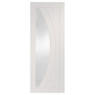 XL Joinery Salerno Painted Glacier White 4P 1L Internal Glazed Door