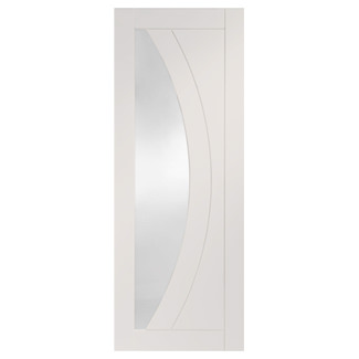XL Joinery Salerno Painted Glacier White 4P 1L Internal Glazed Fire Door