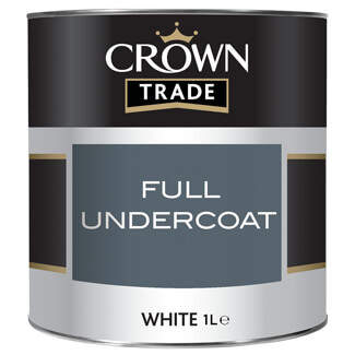 Crown Trade Acrylic Primer Undercoat Paint White 1L