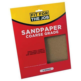 Rodo Fit For Job 230mm x 280mm Coarse Grade Sand Paper