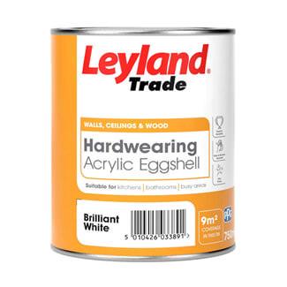 Leyland Hardwearing Acrylic Eggshell Paint